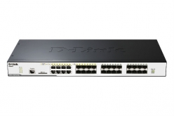 Switch  D-Link 24-port 10/100/1000 Layer2 Stackable PoE Gigabit Combo 1000T/SFP