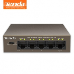 Switch Tenda TEF1105P-4-63W 5-port FastEthernet Switch 10/100Mbps 4 X PoE