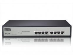 Switch  Netis POE 19'' 8-port 100 MB (8 portów POE, 15,4W/Port, max 124W)