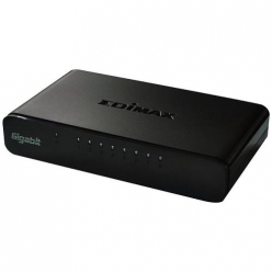 Switch  Edimax 8x 10/100/1000Mbps , opt. power supply via USB cable (incl.)