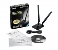 Karta sieciowa  Asus USB-N14 Wireless USB  802.11n  300Mbps  detachable 5dBi x2